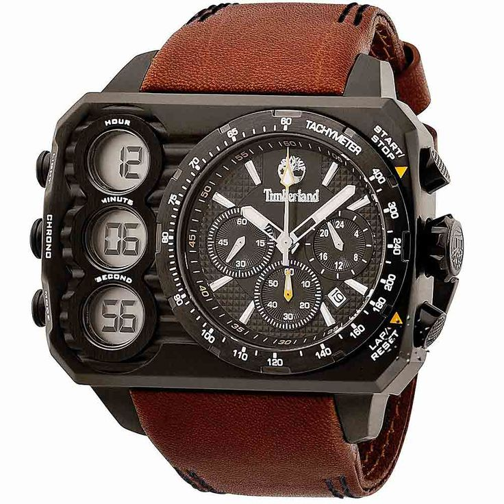 TIMBERLAND HT-3 Brown Leather Strap  249€  http://www.oroloi.gr/product_info.php?products_id=29461