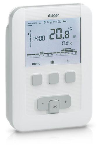 Thermostat sans fil programmable pour chauffage eau chaude