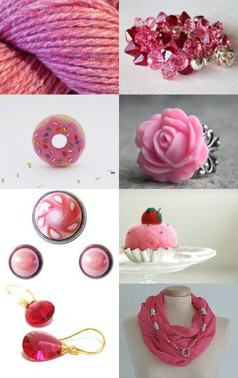 Strawberry pink forever by Gaia Salatino Ghirardi on Etsy--Pinned with TreasuryPin.com