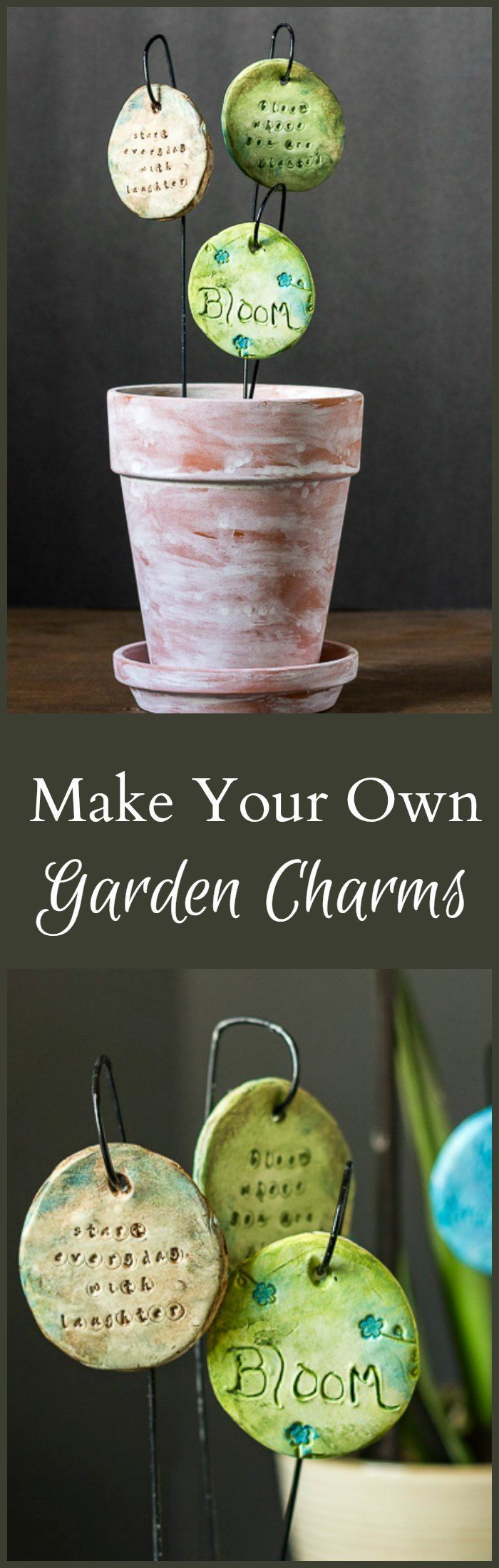 Learn how to make garden charms that make great accessories to your potted plants. Use your favorite sayings to create beautiful and thoughtful gifts.