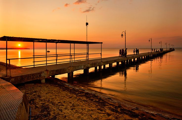 Sunset in Peraia (my hometown), a small town about 30 km outside Thessaloniki. Peraia was the favorite destination for the summer vacations of the inhabitants of the city, during the 60's and 70's.