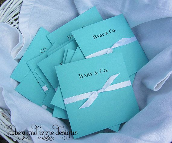 Tiffany Blue Baby Shower Tiffany Blue by abbeyandizziedesigns