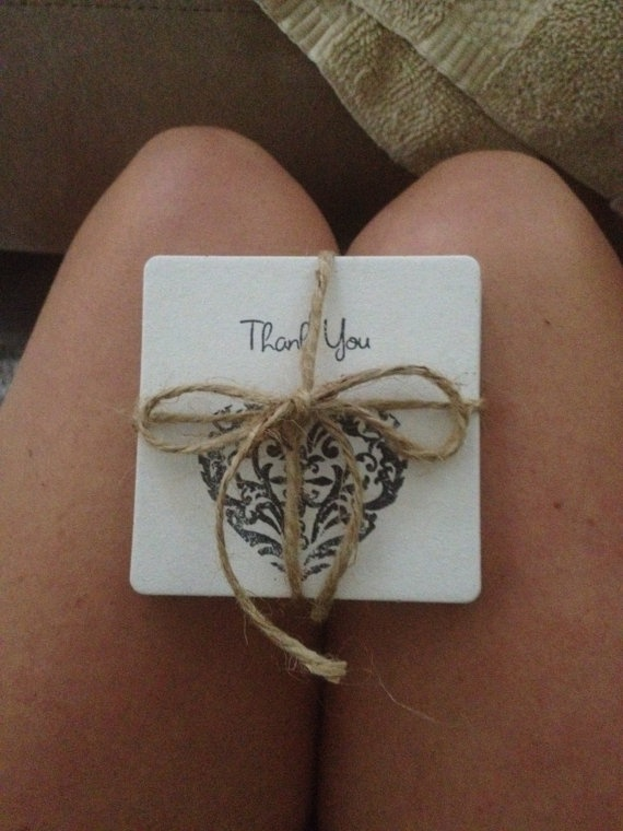 DIY: Coasters with personalized stamp for Rustic Chic Wedding Favors
