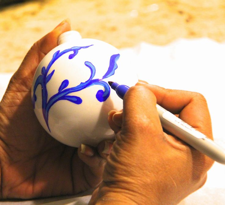 Sheer Serendipity: How to make Blue and White Chinoiserie ornaments