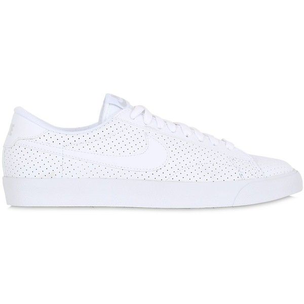 Nike Men Tennis Classic Ac Faux Leather Sneakers (155 CAD) ❤ liked on Polyvore featuring men's fashion, men's shoes, men's sneakers and white