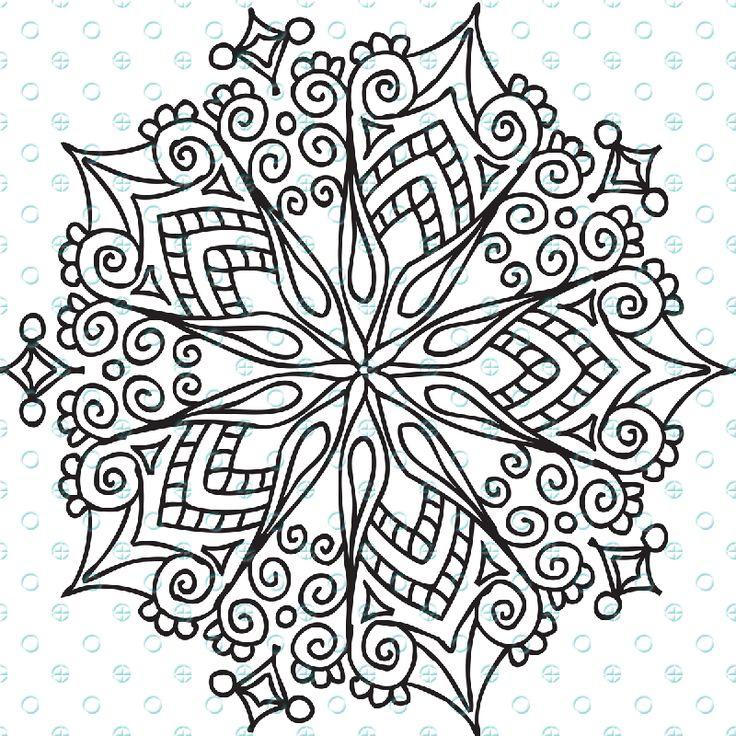 Star Filigree Mandala Silk Screen Stencil for Polymer Clay and Mixed Media
