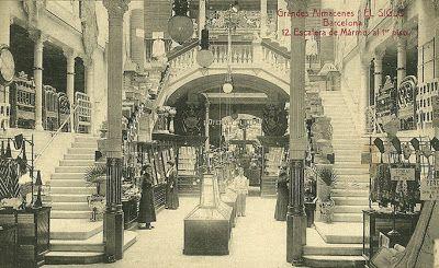 """BARCELOFÍLIA: GRANS MAGATZEMS """" EL SIGLO """". (1881-1932). Rambla dels Estudis 3-7"""