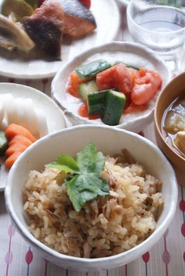 ツナとなめ茸の炊き込みご飯 by もりもん   レシピサイト「Nadia   ナディア」プロの料理を無料で検索