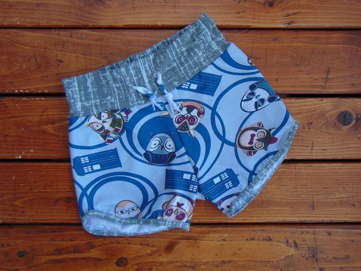 New to MiniGeeks on Etsy: Retro Shorts - Gym Shorts - Baby Shorts - Kids Shorts - Dr. Whoos (30.00 CAD)
