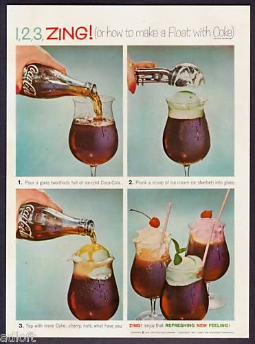 coca cola floats