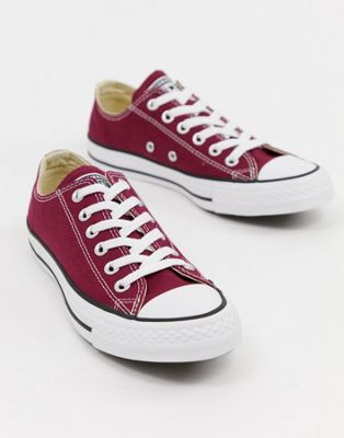 64d2992b22c Shop Converse Chuck Taylor All Star ox burgundy sneakers at ASOS. Discover  fashion online.