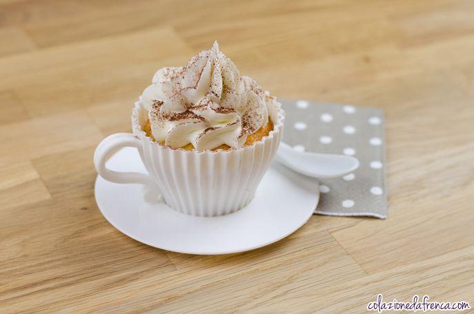 """Cupcakes al Cappuccino - Nome d'arte: """"Il Buongiorno si vede dal….Cappuccino!!!!"""" Ritrova la ricetta qui: http://www.colazionedafrenca.com/ricette/cupcakes-al-cappuccino/"""