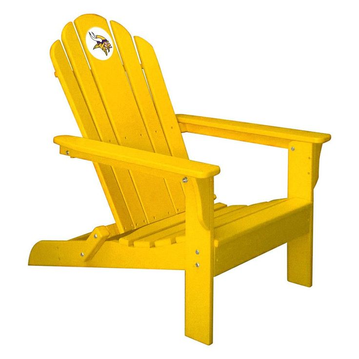 Minnesota Vikings Folding Composite Adirondack Patio Chair in Gold