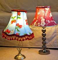 Fabric soft lampshades Empire and Bell