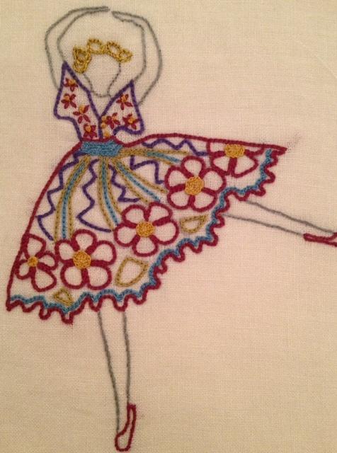 Embroidery dancer handicrafts handmade etc pinterest