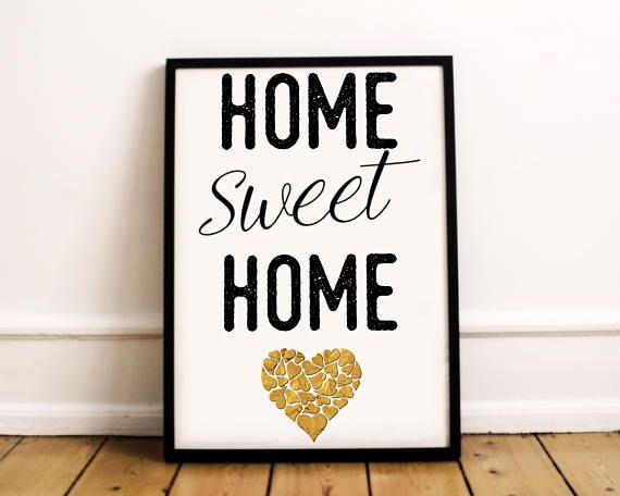 Home Sweet Home Print  Home Sweet Wall Print  Home Sweet