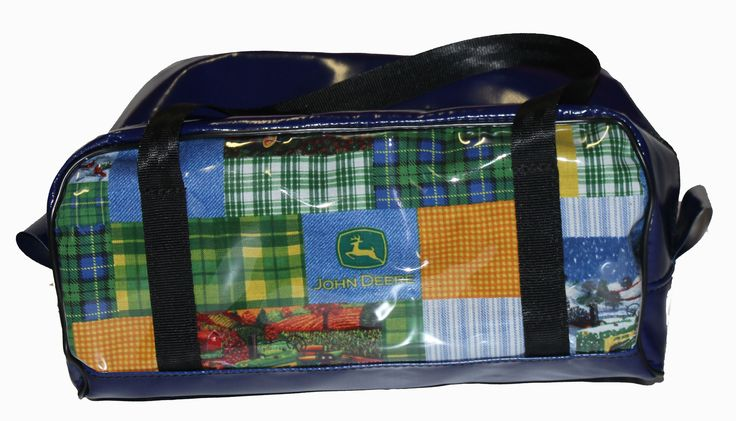 John Deere Fabric Print - great boy's gift idea.   All fabric prints are available on our Carry On Bags, Dance Bags, Overnight/Weekender Bags, Shampoo Bags and Travel Mate Bags.  Tractor gift ideas   unique   John Deere   machinery