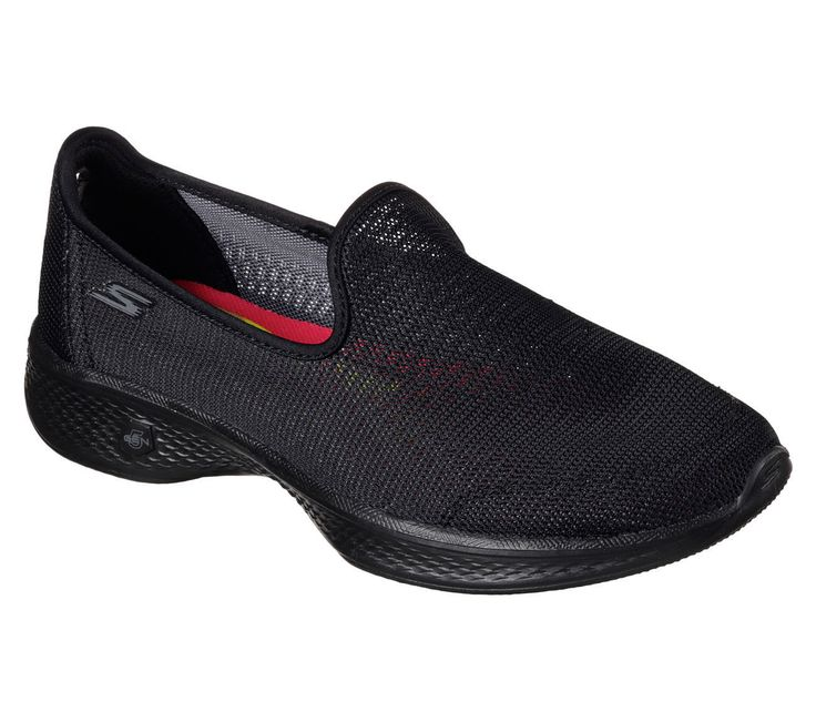 14906 Black Skechers Shoes Go Walk 4 Womens Slip On Casual Breathable Mesh Sport