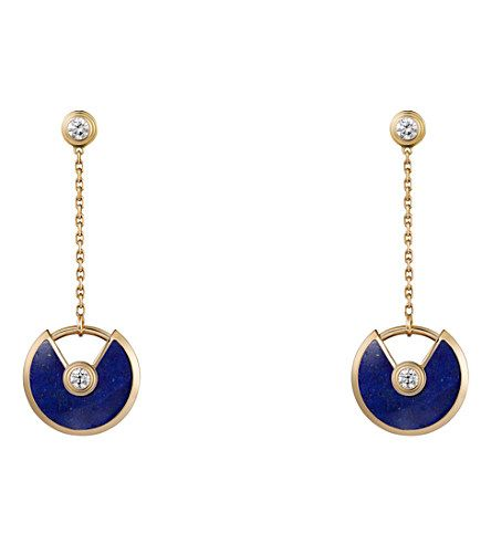 CARTIER Amulette de Cartier 18ct yellow-gold, lapis lazuli and diamond earrings.  It's amazing what you can buy at Selfridges for under £5000.00  :)