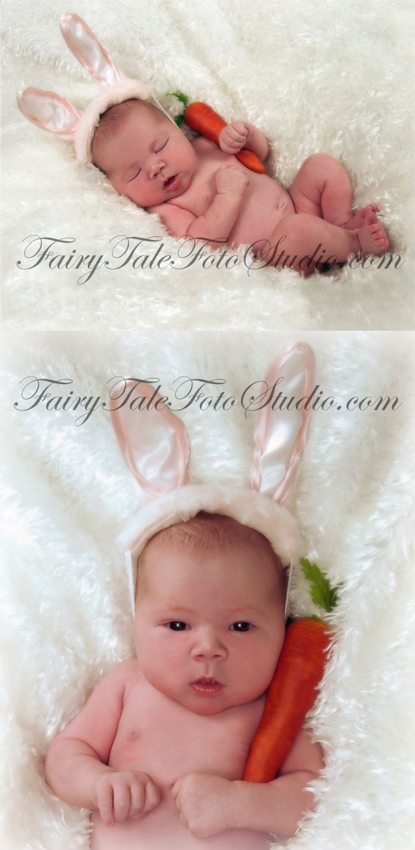 Newborn Easter Bunny with Carrot Portrait Poses | Photo Idea | Photography | Cute Kid Pic | Baby Pics | Posing Ideas | Kids | Children | Child | ~Bountiful Utah Photographer close to Salt Lake City | Ogden | Provo UT~