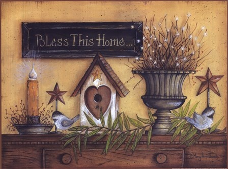 Bless This Home Fine-Art Print by Mary Ann June at FulcrumGallery.com
