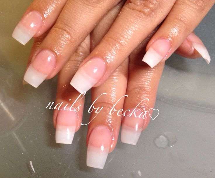Natural Acrylic Overlay Coffin Shaped Nails By Becka Swag Nails Nails Nails 2015