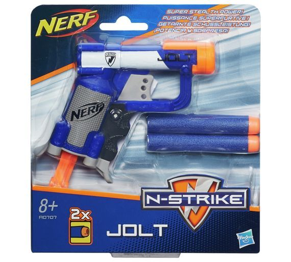 Buy Nerf N-Strike Elite Jolt EX-1 Blaster at Argos.co.uk - Your Online Shop for Blasters, launchers and accessories, Outdoor games, Outdoor toys, Toys.