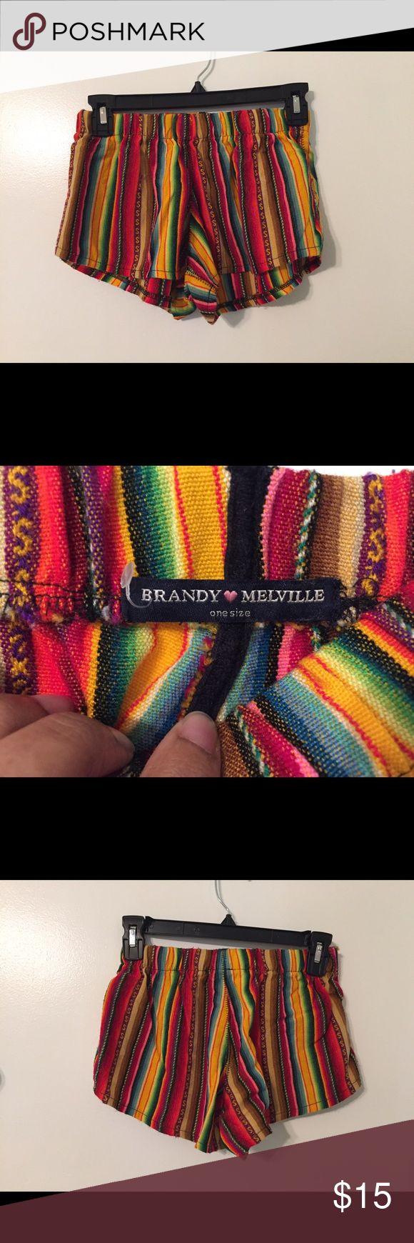 Brandy Melville tribal shorts Brandy Melville tribal shorts one size fits small / medium Brandy Melville Shorts
