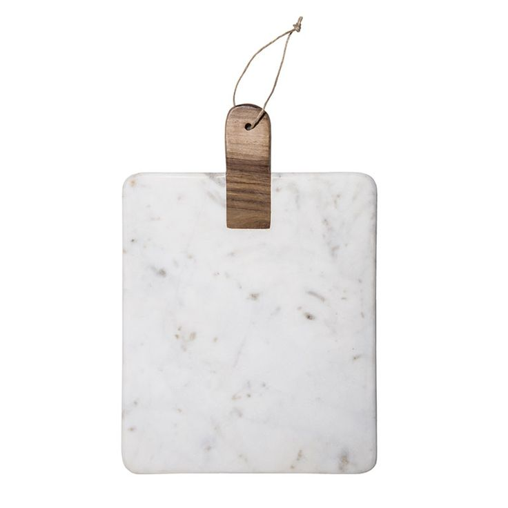 Cutting board / Serving tray in marble with wooden handle – by the brand Madam Stoltz.