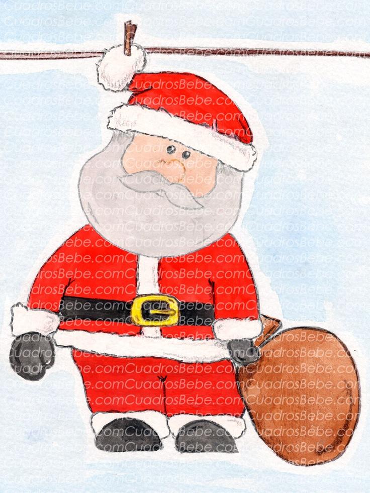 Dibujos De Papa Noel Pintados Figuras De Navidad Para Imprimir