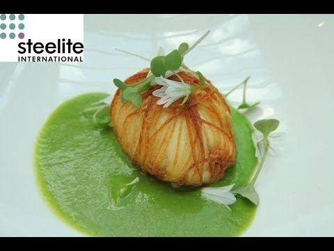 Michelin star chef Simon Hulstone creates a recipe of wild garlic and ba...