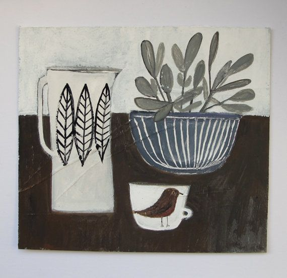 sage is for wisdom  an original still life painting - Cathy Cullis 2013