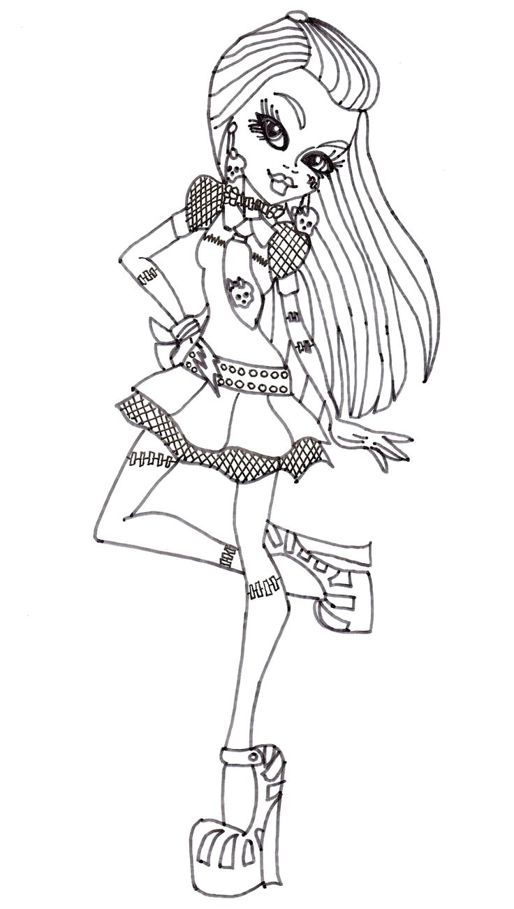 Monster High Frankie Stein Style Coloring Pages Penguin