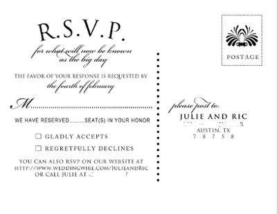 The 25 best rsvp cards wording ideas on pinterest rsvp wording show me your rsvp card wording weddings planning wedding forums weddingwire stopboris Images