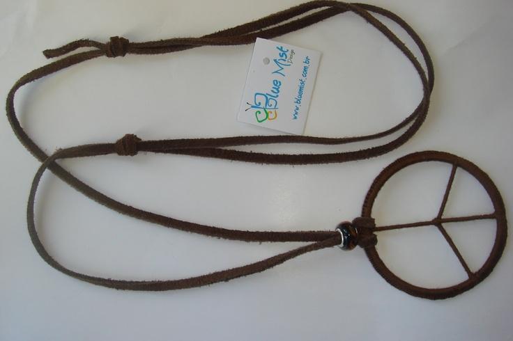 Peace symbol necklace