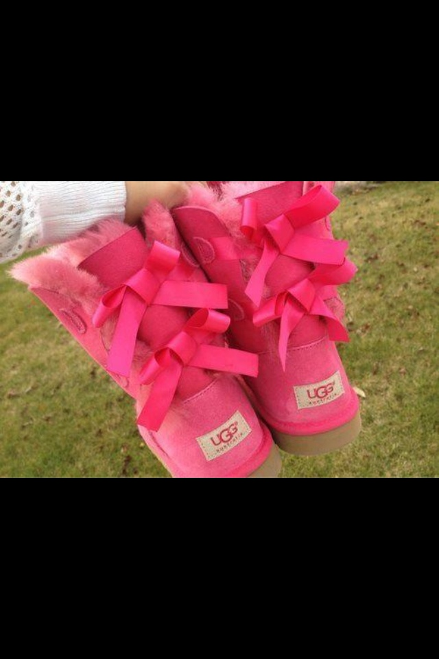 Uggs with bows