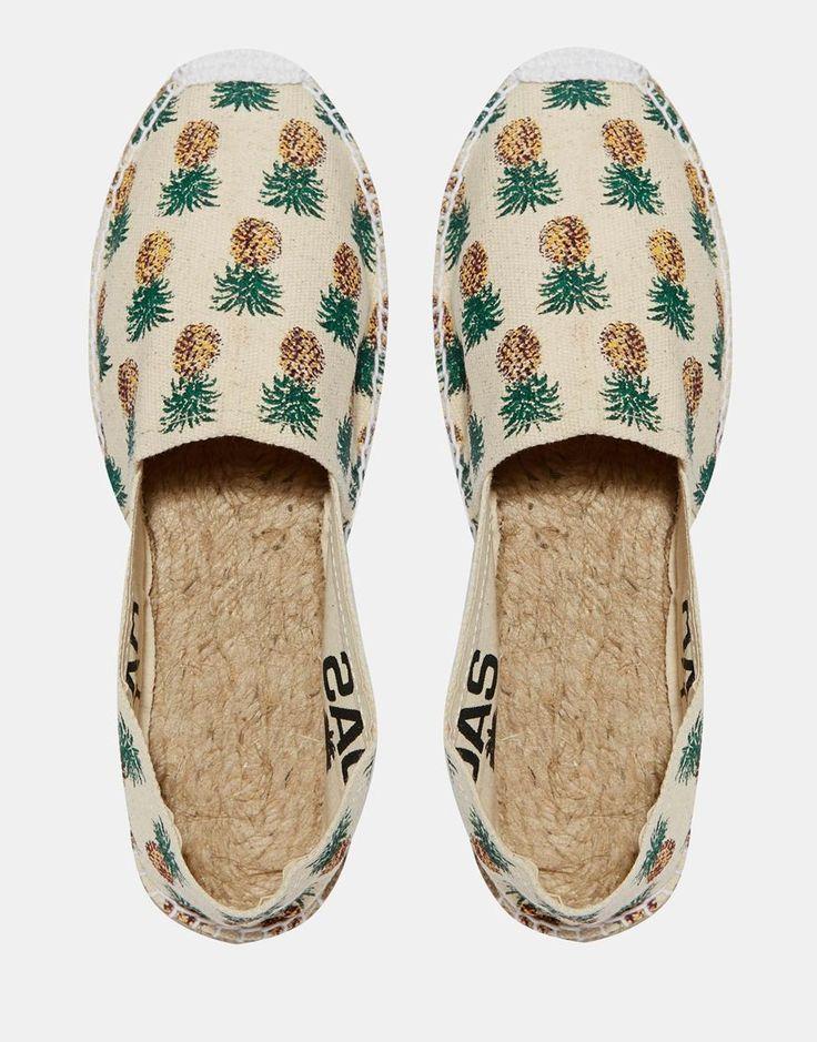 Image 3 - OAS - Chaussures plates à enfiler style espadrilles motif ananas