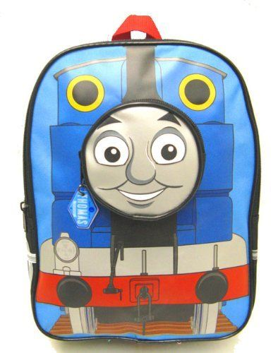 Thomas Train and Freinds Toddler Small Backpack 12 Inches Thomas Face As a Front Pocket by GDC. $12.95. Thomas and Friends Toddler Backpack.  Thomas and Friends smiles out from the front of this toddler backpack. It features adjustable padded fabric shoulder straps . The zippered main compartment is perfect for books and/or clothing, while on the front, is an extra pocket that can also be used as storage for other items such as art supplies.  The locker loop allows you to hang it...