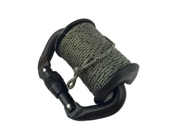The Drop-Line RLD System is a specifically requested device by troops to carry on their MOLLE gear and belt loops for extended carry of both 550 and 3/32 Tether cordage. The Drop-Line wheel can accomm