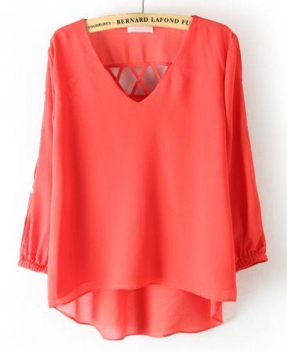 orange blouse #sheInside