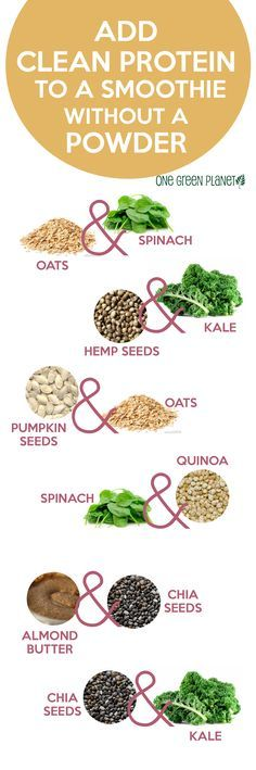 Add Clean Protein to Your Smoothie by onegreenplanet #Infographic #Protein_Smoothie #Healthy_Living