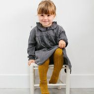 Tocotó Vintage baby jurk grey. outfit meisje grijs heel. Girls outfit yellow grey