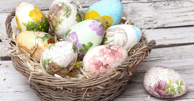 Uova di Pasqua: decorarle con il découpage