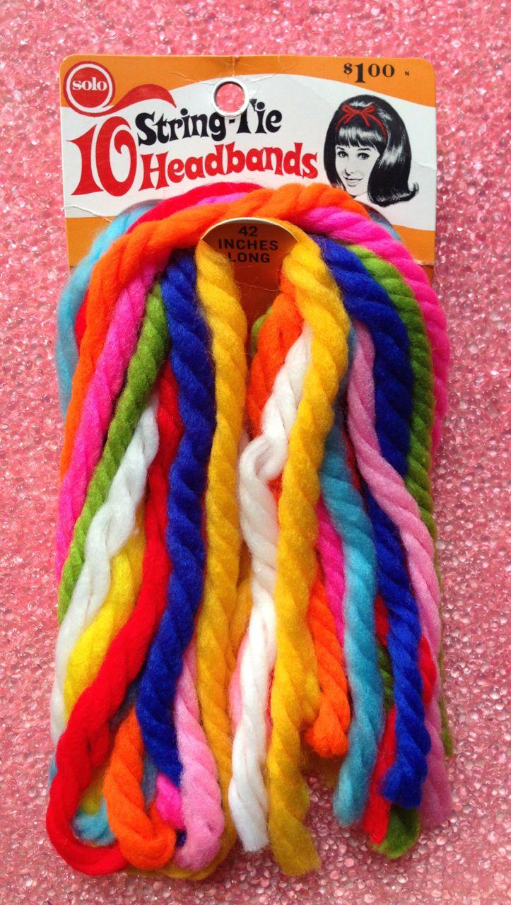 Solo String-Tie Headband, 1960's