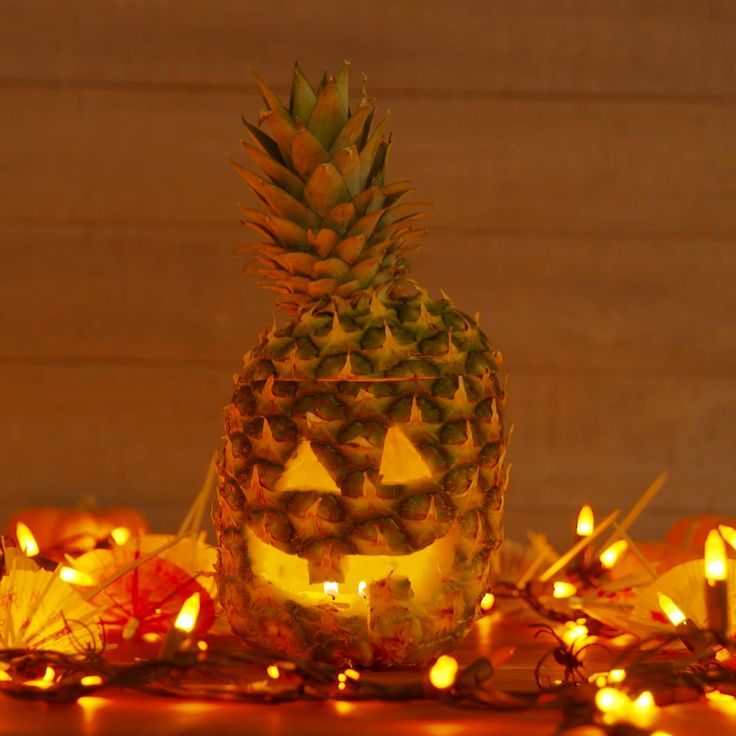 Pineapples Are Basically The New Jack-o'-Lanterns This Halloween