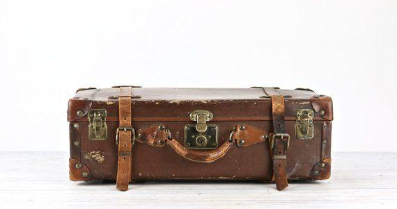 Leather Vintage Suitcase