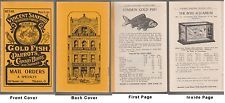 [# 14651] Circa 1920's VINCENT SANFORD GOLD FISH & SUPPLY CATALOG