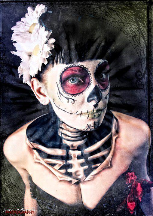 Day of the DeadSugar Skull Halloween, Halloween Makeup, Body Painting, Of The, Dead, Day, Halloween Ideas, Face Painting