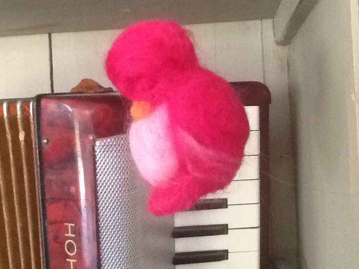 Sleeping felt bird