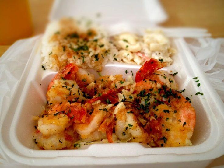 Homestyle Hawaiian - shrimp, mahi mahi and spam musubi - Clairemont, San Diego, CA